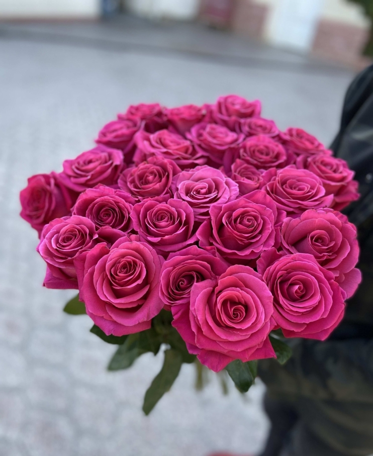 Розовые розы Pink F. (Эквадор) 60-70см Premium