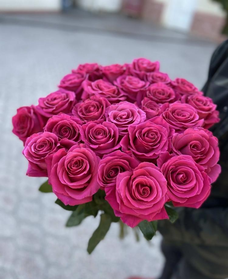 Букет из 25 роз Pink F. (Эквадор) 60-70см Premium