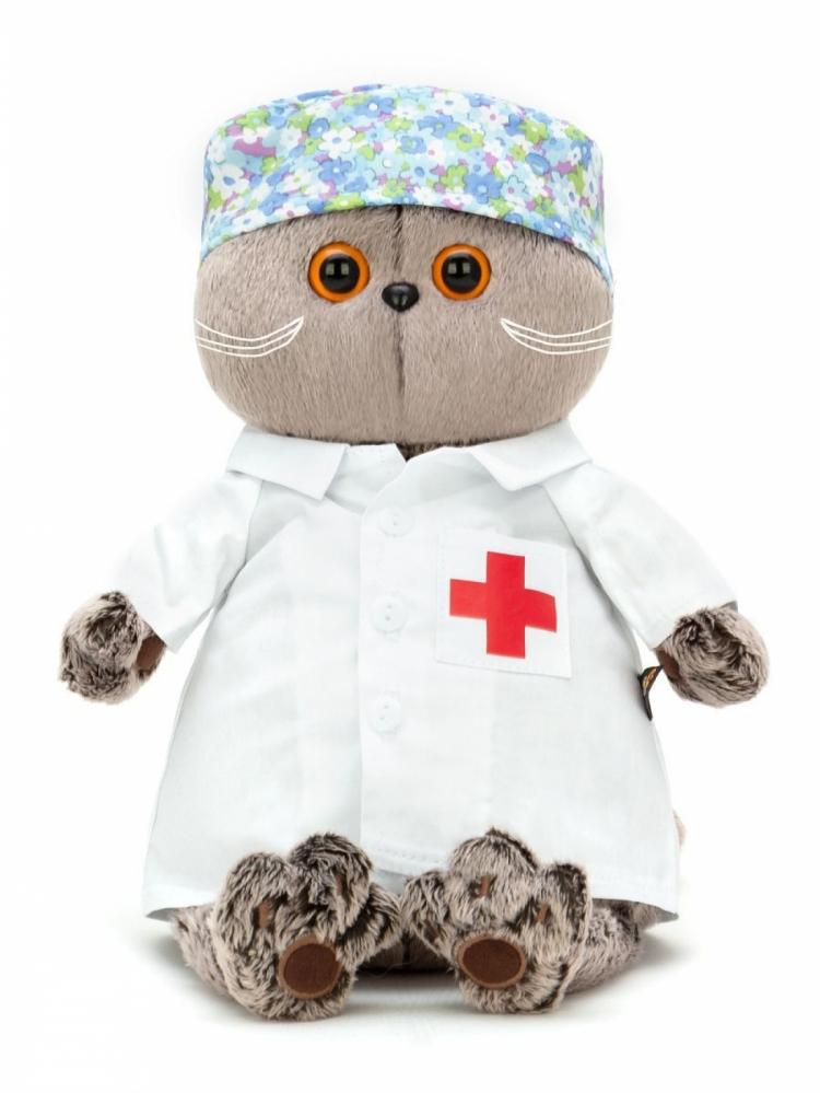 "Мягкая игрушка ""Кот Басик"" в костюме доктора"