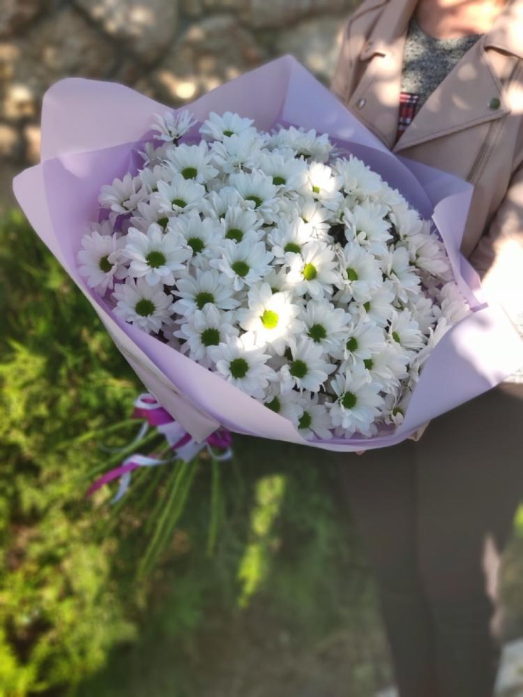 Букет из хризантем White R.