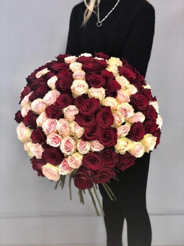 Букет из 101 розы Premium 60-70см